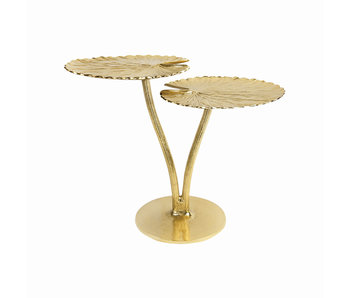 Side Table Water Lily Leaf - gold
