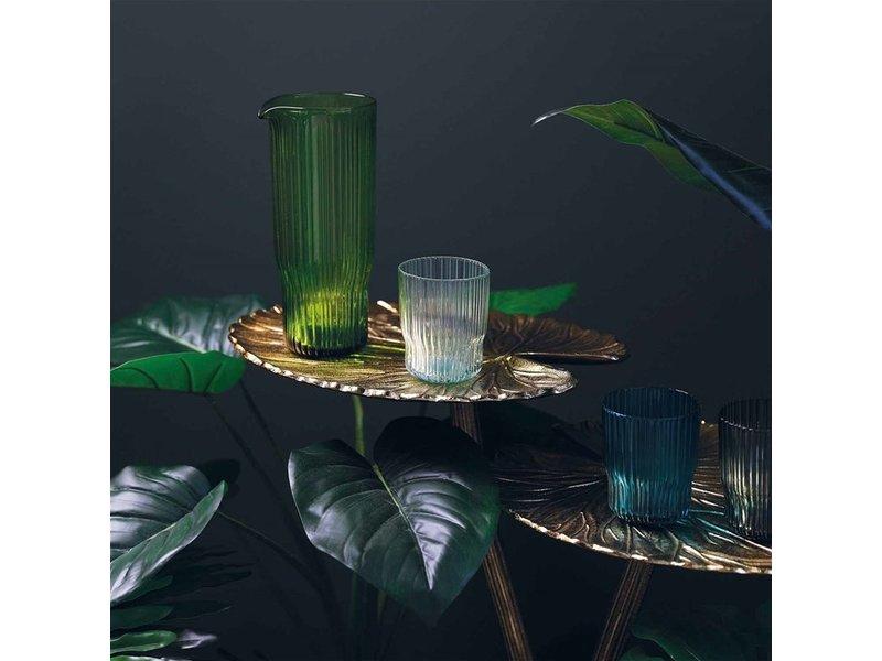 &klevering Side Table Water Lily Leaf - gold - H 54 cm