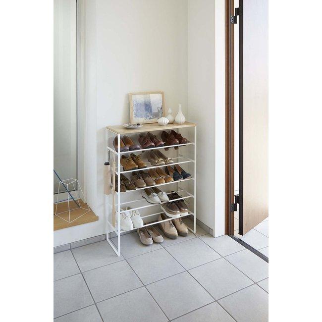 Yamazaki - Shoe Rack Tower - with shelf and hooks
