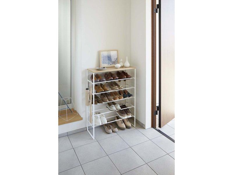 Yamazaki  Shoe Rack Tower - with shelf and hooks