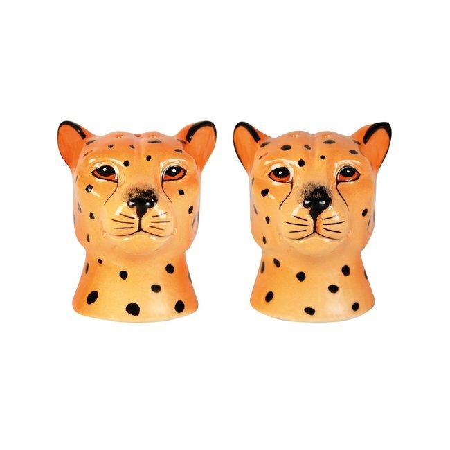 Salt and Pepper Set Leopard - ceramics
