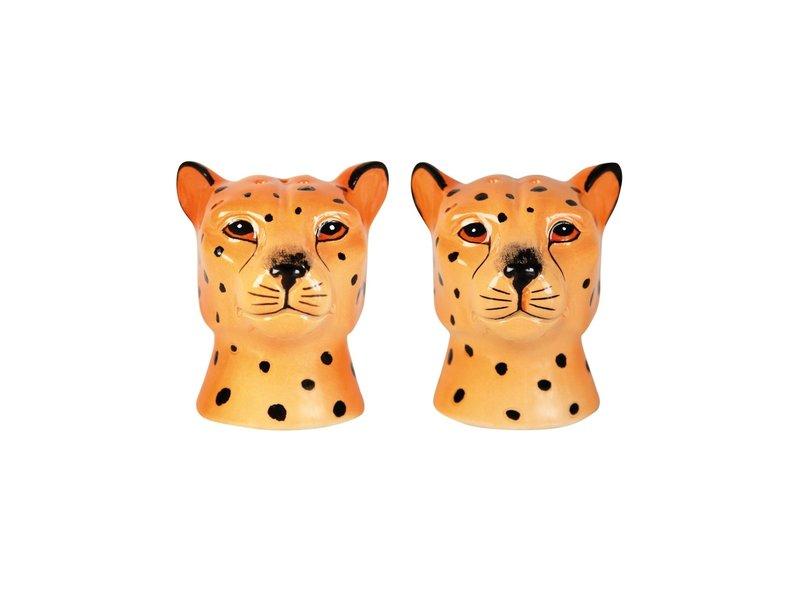 &klevering Salt and Pepper Set Leopard - ceramics
