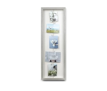 Display Photo Clothesline Flip - gris
