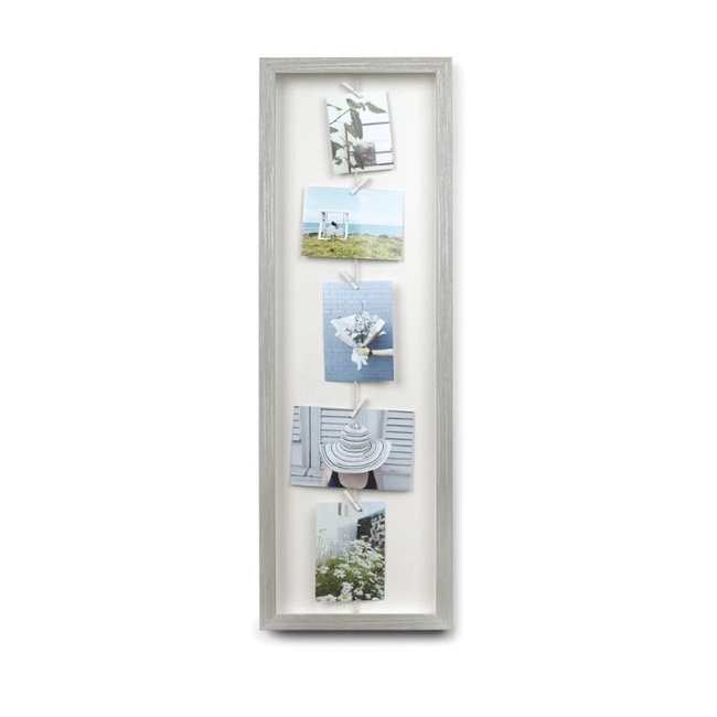 Umbra Display Photo Clothesline Flip - gris
