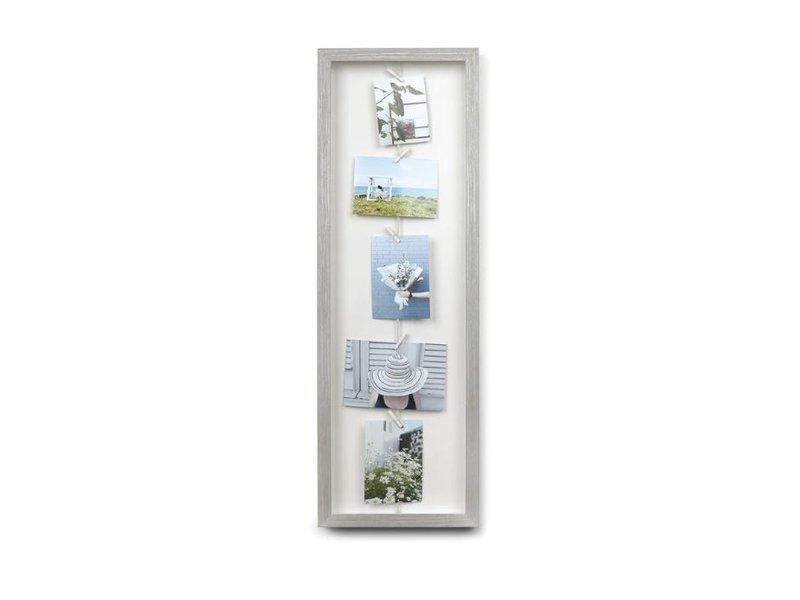 Umbra Umbra Photo Display - Photo Holder Clothesline Flip - grey