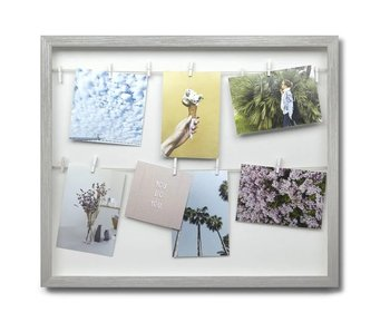 Photo Display Clothesline - grey