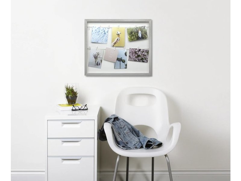 Umbra Umbra Photo Display - Photo Holder Clothesline - grey