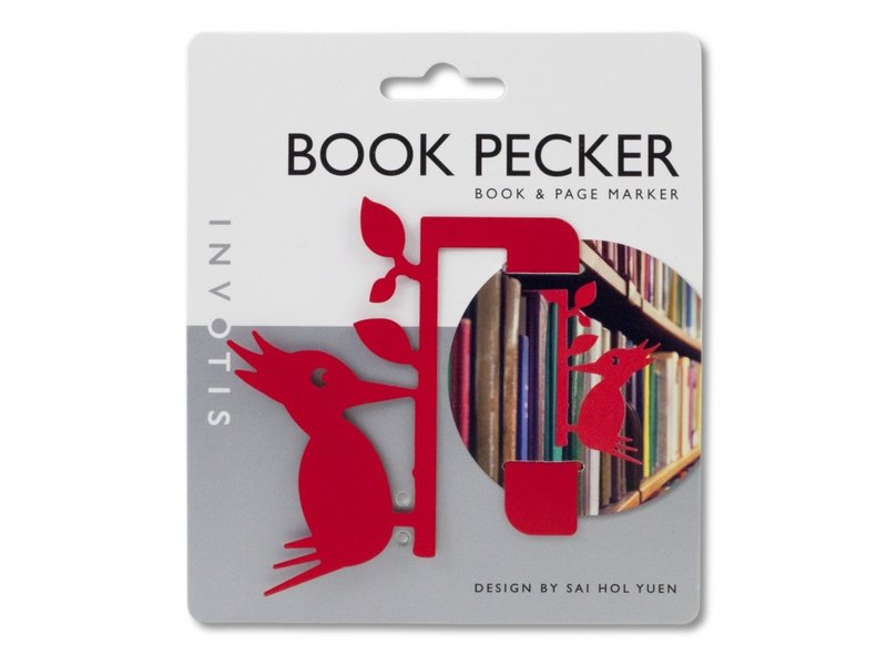 Invotis Marque-Page Oiseau Book Pecker