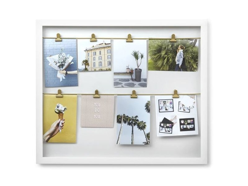 Umbra Umbra - Display Photo Murale Clipline - blanc