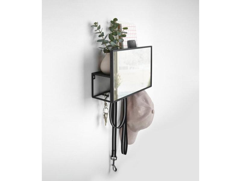 Umbra Umbra Organiseur Mural et Miroir Cubiko