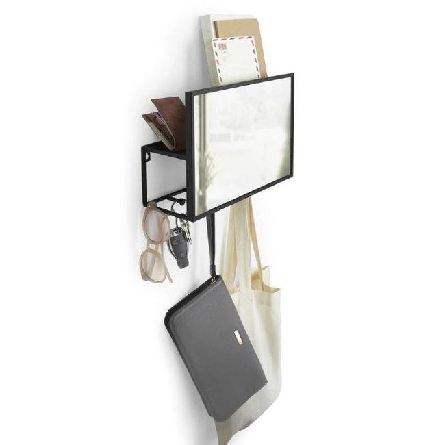 Umbra Organiseur Mural et Miroir Cubiko