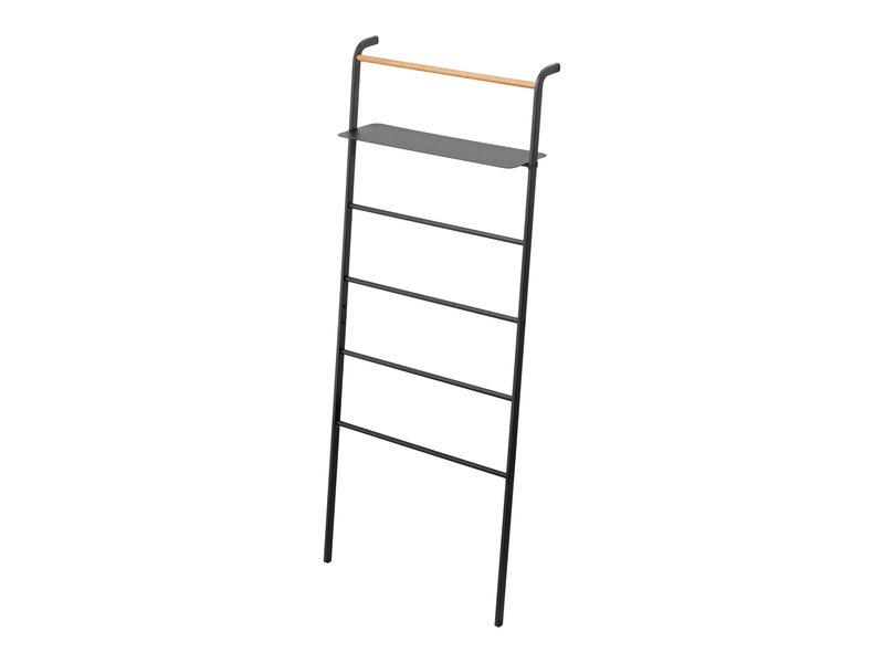 Yamazaki  Ladder Hanger Wide Tower - black - with shelf