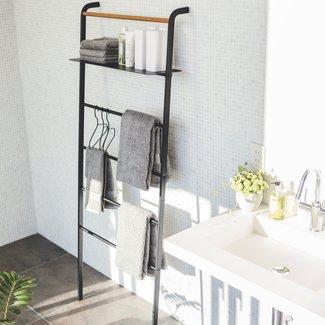 Yamazaki  Ladder Hanger Wide Tower - black