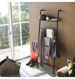 Yamazaki  Rek Ladder Wide Tower - zwart - met legplank