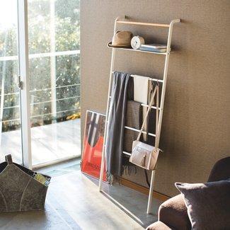 Yamazaki  Ladder Hanger Wide Tower - white