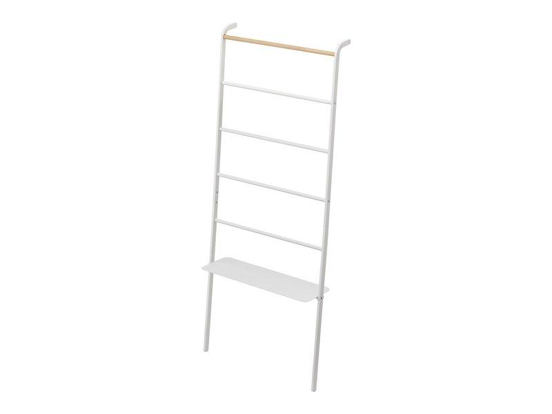 Yamazaki  Ladder Hanger Wide Tower - white - with shelf