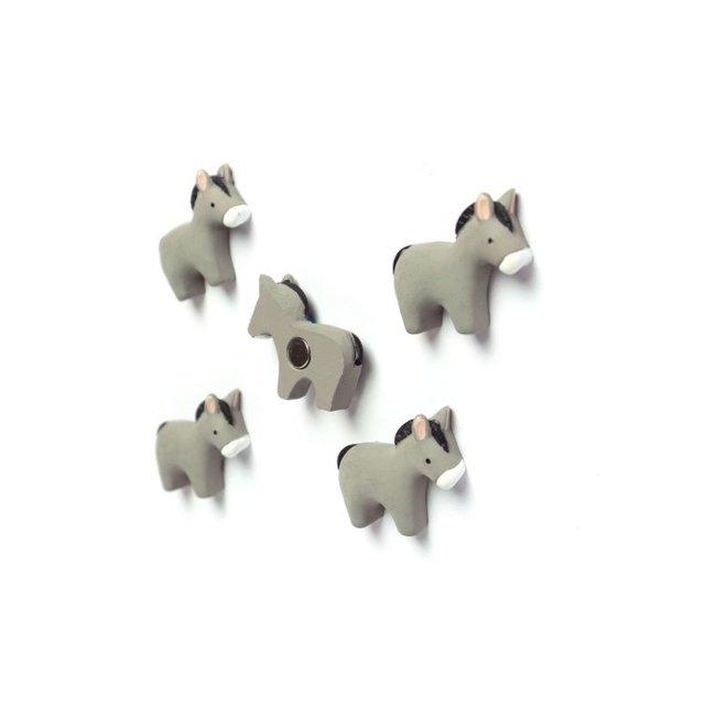 Trendform Magneten Ezeltjes - set van 5 - sterk