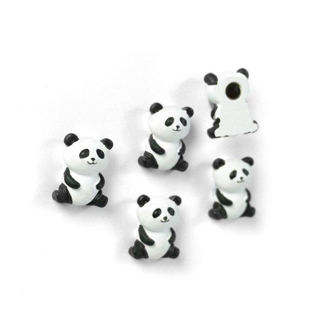 Aimants Panda - ensemble de 5 - puissant
