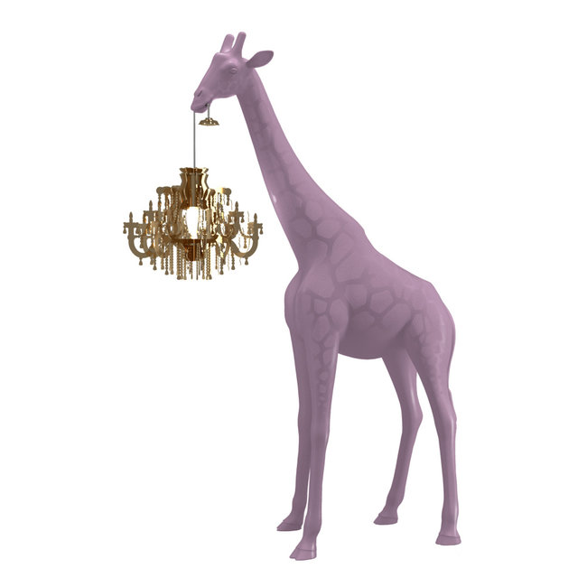 Qeeboo Floor Lamp Giraffe in Love XS - dusty pink