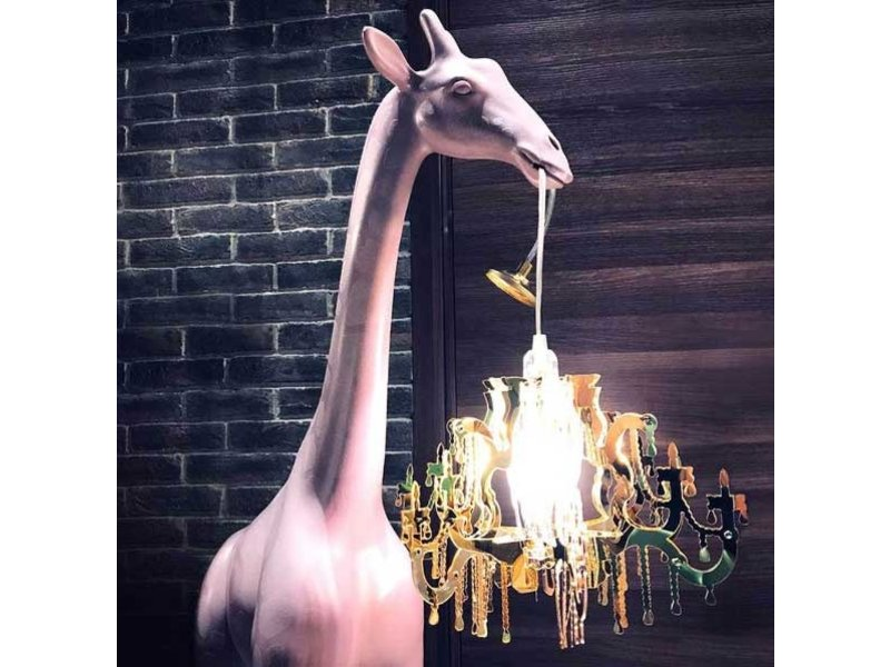 Qeeboo Qeeboo Lampadaire Girafe in Love XS - dusty rose
