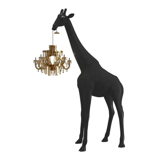 Qeeboo Floor Lamp Giraffe in Love XS - black