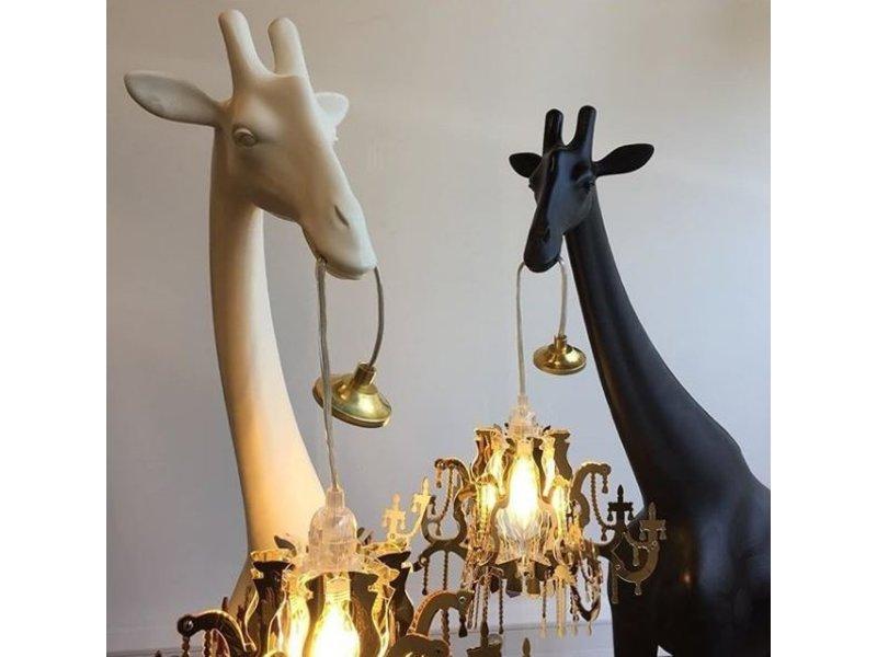 Qeeboo Qeeboo Vloerlamp - Staanlamp Giraffe In Love XS - zwart