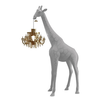 Qeeboo Floor Lamp Giraffe in Love XS - cold sand