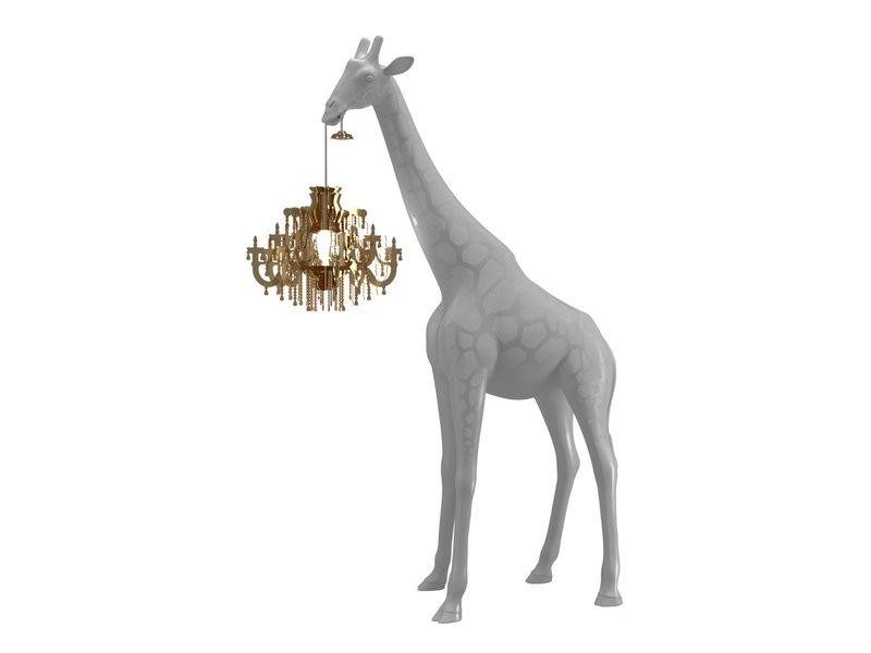 Qeeboo Qeeboo Floor Lamp Giraffe in Love XS - cold sand