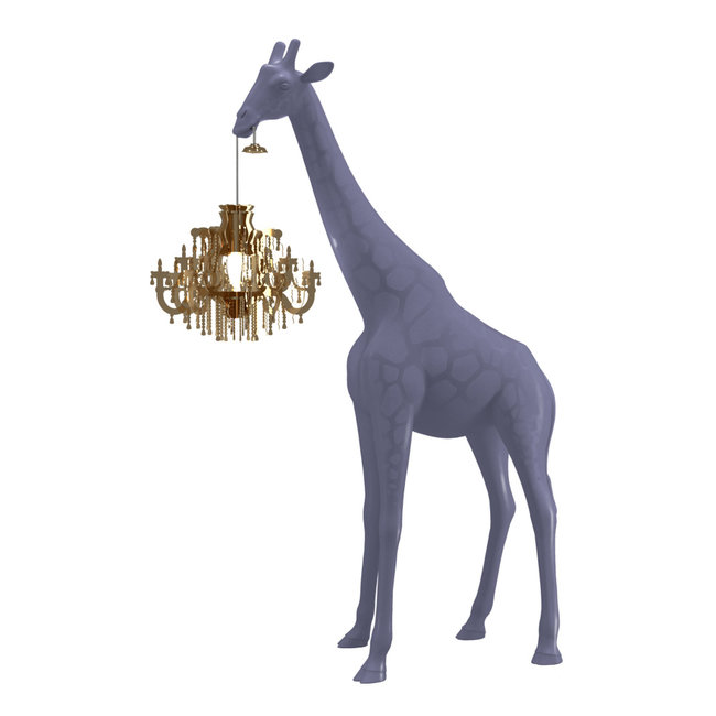 Qeeboo Floor Lamp Giraffe in Love XS - stormy grey