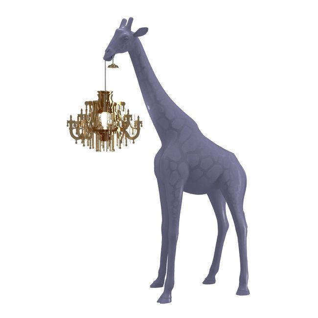 Qeeboo Vloerlamp - Staanlamp Giraffe In Love XS - stormy grey
