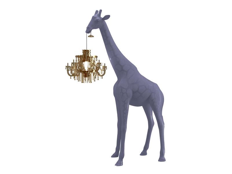 Qeeboo Qeeboo Floor Lamp Giraffe in Love XS - stormy grey