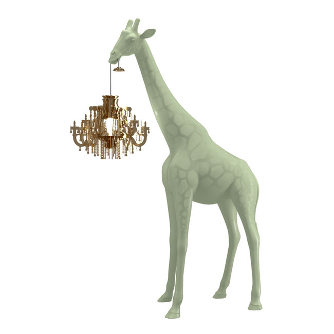 Qeeboo Floor Lamp Giraffe in Love XS - warm sand