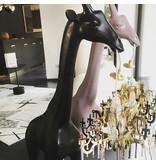 Qeeboo Qeeboo Floor Lamp Giraffe in Love XS - dusty pink