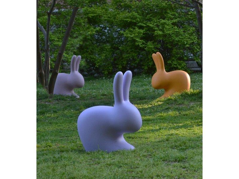 Qeeboo Qeeboo Rabbit Chair Stool - light grey H 80 cm