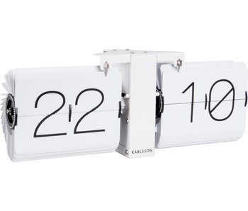 Flip Clock No Case - white/white