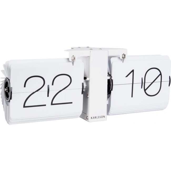Karlsson Flip Clock No Case - white/white