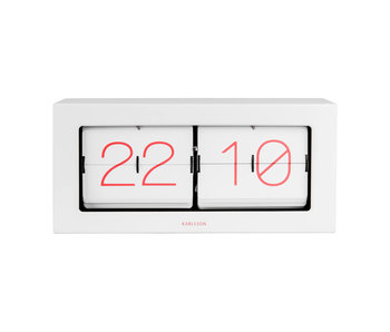 Horloge Flip Clock Boxed XL - blanc/rose