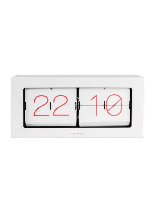 Flip Clock Boxed XL - white/pink