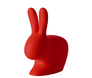 Rabbit Chair Stool - light blue - red