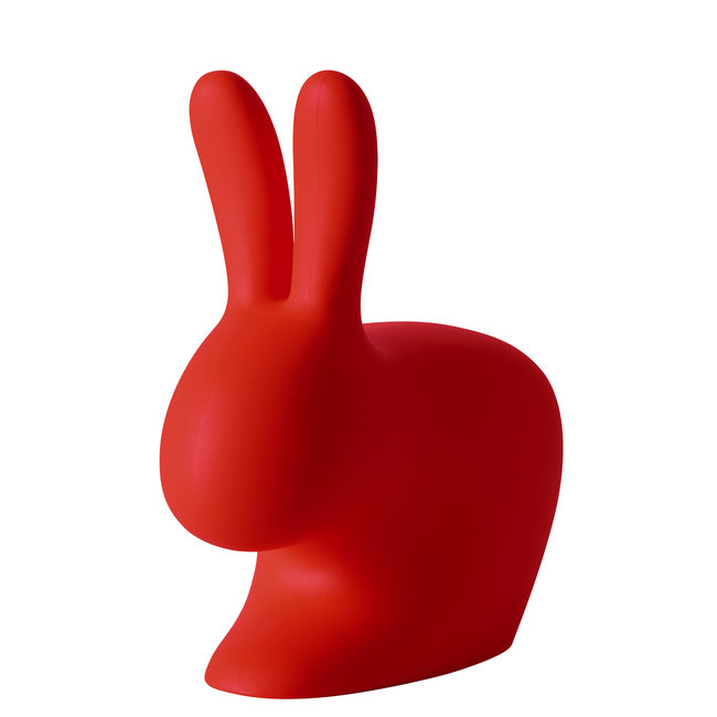 Qeeboo Chaise - Tabouret Rabbit Chair - rouge - H 80 cm