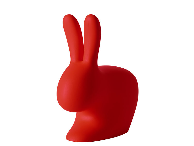Qeeboo Qeeboo Chaise - Tabouret Rabbit Chair - rouge - H 80 cm
