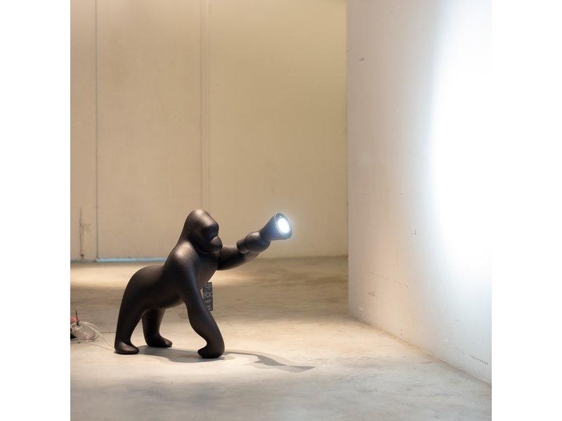 Qeeboo Qeeboo Floor Lamp - Table Lamp Kong XS - black H 70 cm