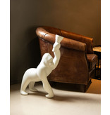 Qeeboo Qeeboo Floor Lamp - Table Lamp Kong XS - white H 70 cm