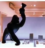 Qeeboo Qeeboo Vloerlamp - Tafellamp Kong XS - zwart H 70 cm