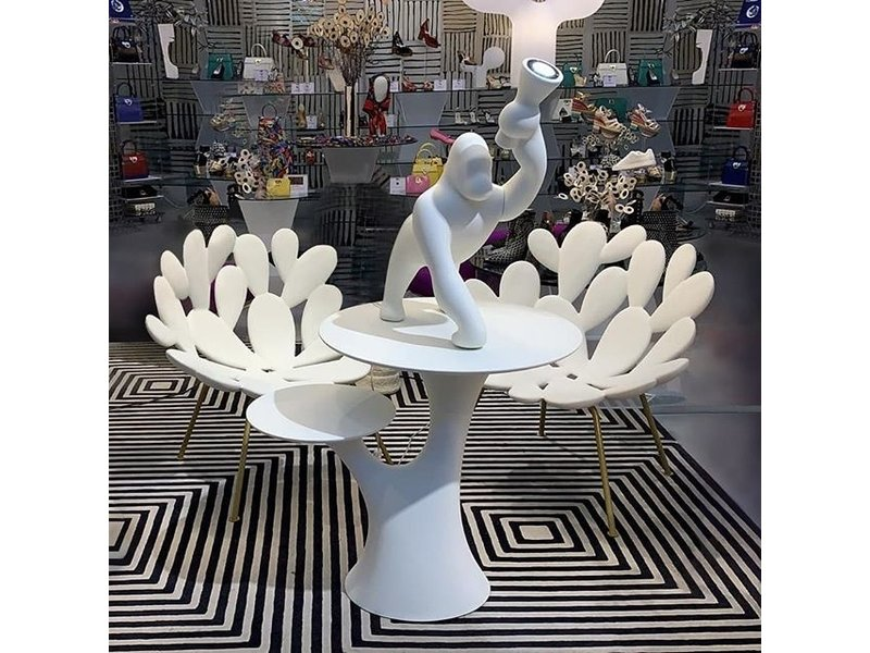 Qeeboo Qeeboo Lampe de sol ou de table Kong XS - blanc H 70 cm