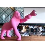 Qeeboo Qeeboo Vloerlamp - Tafellamp Kong XS - roze H 70 cm