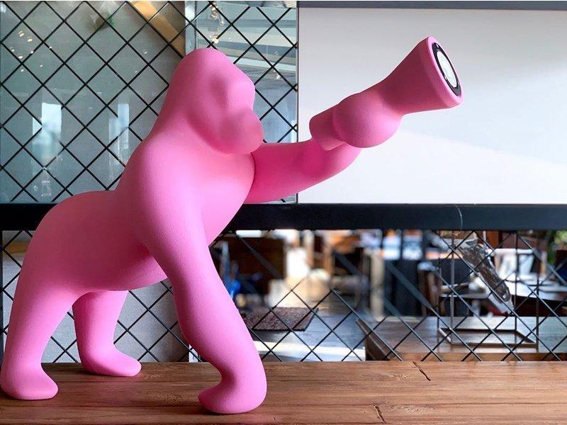 Qeeboo Qeeboo Lampe de sol ou de table Kong XS - rose H 70 cm