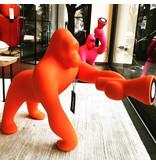 Qeeboo Qeeboo Floor Lamp - Table Lamp Kong XS - orange H 70 cm