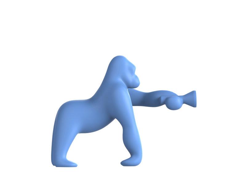 Qeeboo Qeeboo Vloerlamp - Tafellamp Kong XS - licht blauw H 70 cm