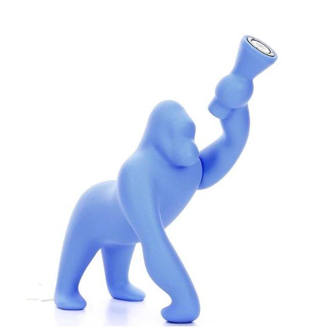 Qeeboo Vloerlamp - Tafellamp Kong XS - licht blauw H 70 cm